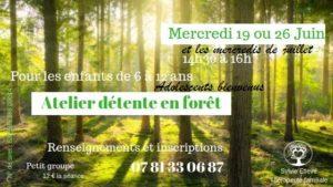 Atelier détente en forêt